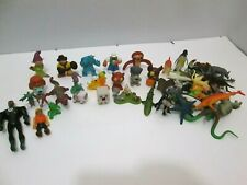 VTG MINI ACTION FIGURE DINOSAURS ANIMALS TOYS MIXED LOT