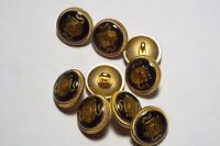 8pc 20mm Gold Checker Plate Metal Military Blazer Coat Cardigan Button 2862