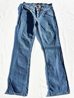 Bebe Bootcut Jeans Sophie 28 Boot Blue Denim Distressed