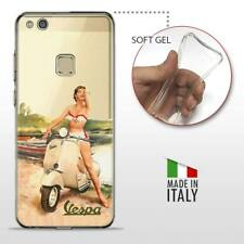 Huawei P10 Lite TPU CASE COVER PROTETTIVA TRASPARENTE VINTAGE Vespa Old Pinup