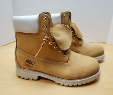 TIMBERLAND Men's Nubuck High Top Wheat White Suede Boots Waterproof Size 7.5 M