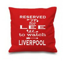Liverpool Cushion, Reserved for Any Name to watch Liverpool, Football Fan Gift