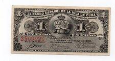 SPAIN Colonial  1896  One Peso , Very Scarce