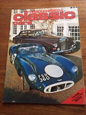 Vintage Magazine Thouroughbred & Classic Cars  Film Prop  Car Showroom Apr 1976