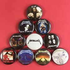 "Metallica 1"" Pin Button Set Heavy Thrash Metal Cliff Burton"