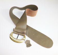 Women's Vintage Wide 4in Bronze Distressed 100% Leather Belt Size XL 35 in 38 in