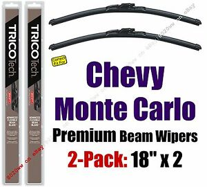Wipers 2pk Premium Wiper Beam Blades fit 1978-1988 Chevrolet Monte Carlo 19180x2