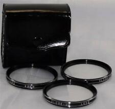 Vivitar 49mm +1 +2 +4 Close Up SLR Film Digital Camera Lens Filter Set with Case