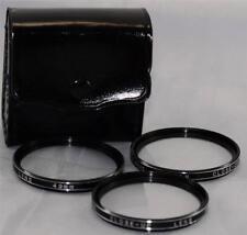 Vivitar 49mm +1 +2 +4 Close Up SLR Film Digital Camera Lens Filter Set with Case