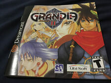 Grandia 2, manual only, excellent condition