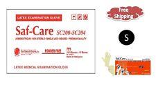 Saf-Care®  Powder Free Examination Latex Gloves- SMALL 1000/CS MEDICAL  5.6 Mil