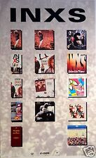 "Inxs ""Live Baby Live"" U.S. Promo Poster From 1991 - Shows 9 Covers & 4 Videos"