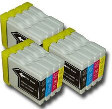 12 x Cartucce di inchiostro lc980 NON-OEM alternativa per BROTHER mfc-295cn, mfc295cn