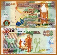 New listing Zambia, 20,000 (20000) Kwacha, 2003 Pick 47 (47a), Unc > Scarce First Date