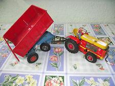 GAMA  Traktor Anhänger Hänger Rolle altes Blechspielzeug old tin toys