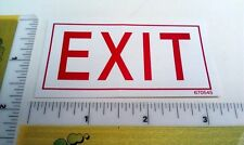 Exit Warning Safety Label Sticker - Part #670545