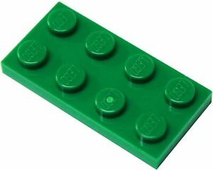 LEGO Plate 2x4 GREEN brick 10 PIECES part # 3020 BRAND NEW
