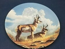 """1990 Old Dominion Collector's Plate """"THE PRONGHORN"""" By PAUL KRAPF"""