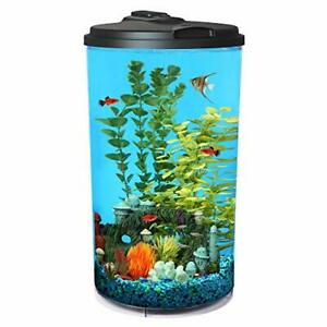 Koller Products 6-Gallon AquaView 360 Aquarium Kit with LED Lighting and Powe...