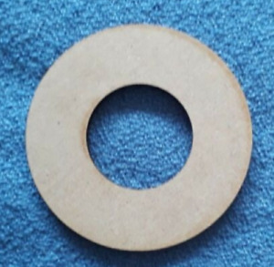 MDF 3mm thick 10 x  7.5cm hoops with no holes craft shape blanks
