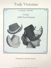 Sewing Pattern to make French Bonnets circa 1880s uncut Truly Victorian TV551