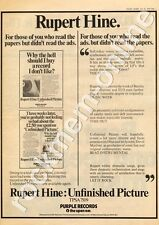 Rupert Hine Unfinished Picture Deep Purple Records Advert 30/6/73