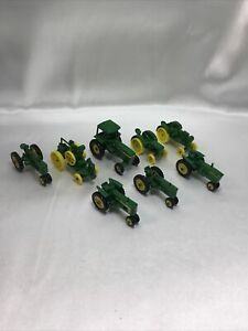 Lot of 8 John Deere & Misc 1/64th Scale Diecast Farm Tractors