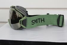 2017 Smith I/OS Ski Snowboard Goggles IOS Olive Green Gold Sol-X Mirror