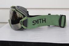 2017 Smith I/OS Ski Snowboard Goggles IOS Olive Green Gold Sol-X Mirror
