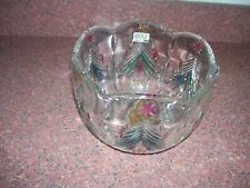 MIKASA JAPAN CHRISTMAS BOWL TREES TINTED WITH RED AND GREEN