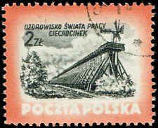 Scott # 611 - 1953 - ' Windmill & Framework, Ciechocinek '