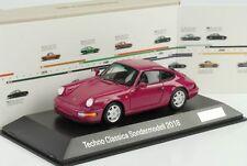 Porsche 911 964 carrera 1990 techno Classica comer 2018 1:43 Spark