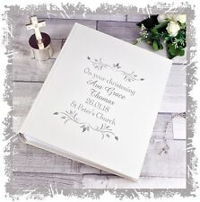 Christening Photo Album personalised gift for Baby girl or baby Boy present