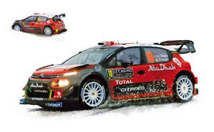 Citroen C3 WRC #10 4th Monte Carlo 2018 K. Meeke / P. Nagle 1:18 Model 181636