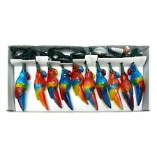 Red Blue Yellow Tropical Parrot Bird Luau Party String Lights - Indoor / Outdoor