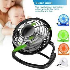 Mini Fan Desk USB Fan Desktop Desk Silent Laptop PC Fan Quiet Cooler Summer I2Y6