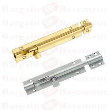 Brass/Chrome Slide Bolt Bathroom Toilet Cabinet Cupboard Shed Door/Lock/Latch