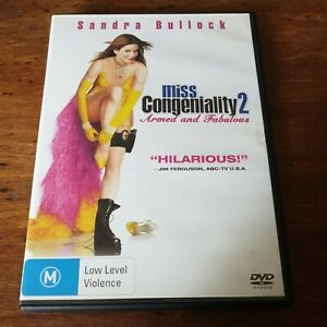 Miss Congeniality 2 Armed and Fabulous DVD R4 Like New! FREE POST