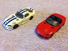 2 x Burago Dodge Viper Cars - Scale 1:43