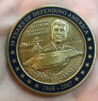 USS John F Kennedy CV-67 JFK 1967-2007 NAVY Challenge Coin