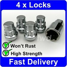 4 x ALLOY WHEEL LOCKING NUTS FOR NISSAN (M12x1.25) TAPERED SEAT LUG BOLTS [U6]