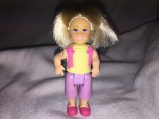 FISHER PRICE Loving Family Dollhouse BLONDE GIRL Sister Had Pigtails RARE