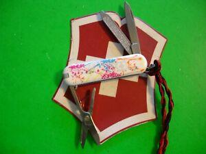 """NTSA SWISS ARMY VICTORINOX LTD ED POCKET KNIFE CLASSIC """"SPLATTER"""" 2010"""