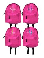 Personalised Backpack Bag Sparkle Glitter Name Custom School PE Sports