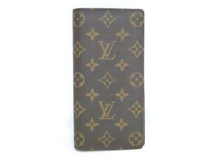 Auth LOUIS VUITTON Long Wallet Portefeuille Brazza M66540 Monogram 72180282000 K