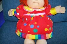 Vintage~Cabbage Patch Kid~Doll~Padded Clown Outfit~Red Yarn Hair~1985~Signed~Euc
