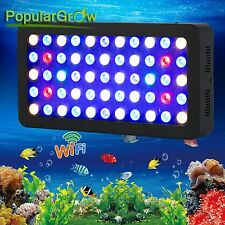 Dimmable WIFI165W LED Aquarium Light Full Spectrum For Live Fish Tank Reef Coral
