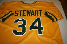 OAKLAND A'S ATHLETICS #34 DAVE STEWART SIGNED YELLOW JERSEY 89 WS CHAMPS JSA
