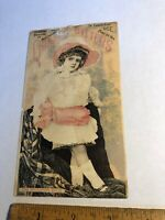 Vintage Victorian trade advertising card Quaker Bitters The Brighton Belle