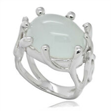 5.0ct Aquamarine Sterling Silver Prong Ring 6.75 #91027